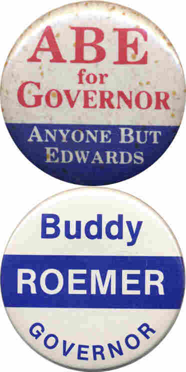 Abe and Buddy Roemer buttons