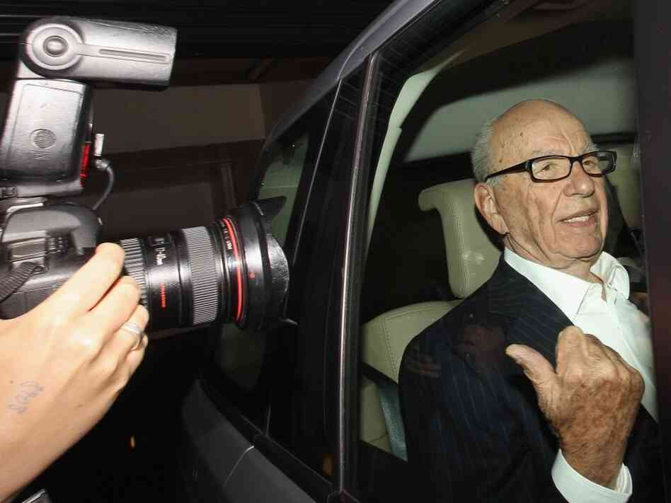 Rupert Murdoch, the chief executive officer of News Corp., is driven from his apartment on July 12, 2011 in London, England.