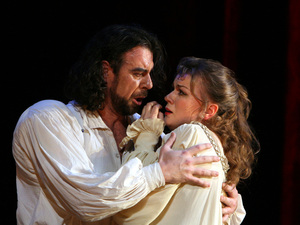 Carlos Alvarez and Lyubov Petrova in Verdi's Rigoletto at the Washington National Opera.