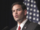 Sen. Marco Rubio, R-Fla., considered a potential 2012 veep pick, speaks at the Ronald Reagan Presidential Library in Simi Valley, Calif. in August.