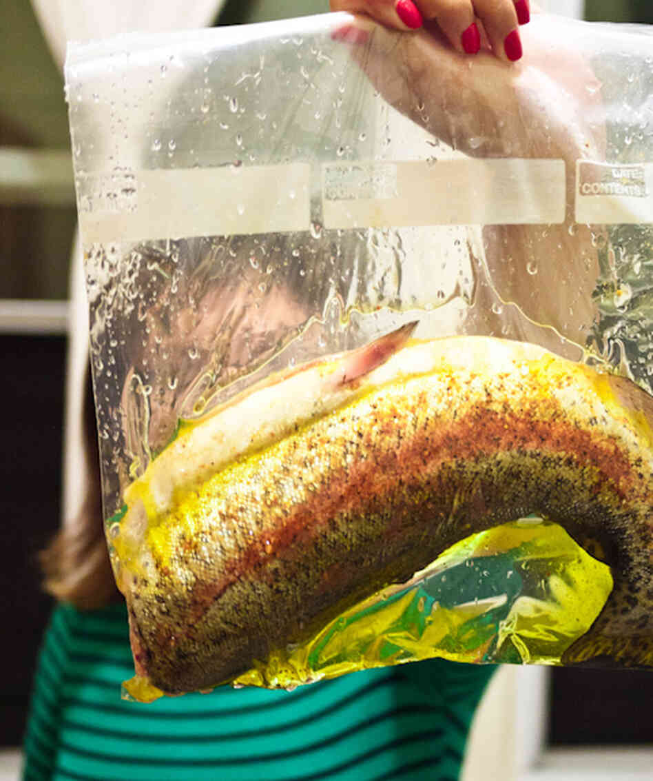 Self starters eat up this slow cooking technique npr for Cooking temp for fish