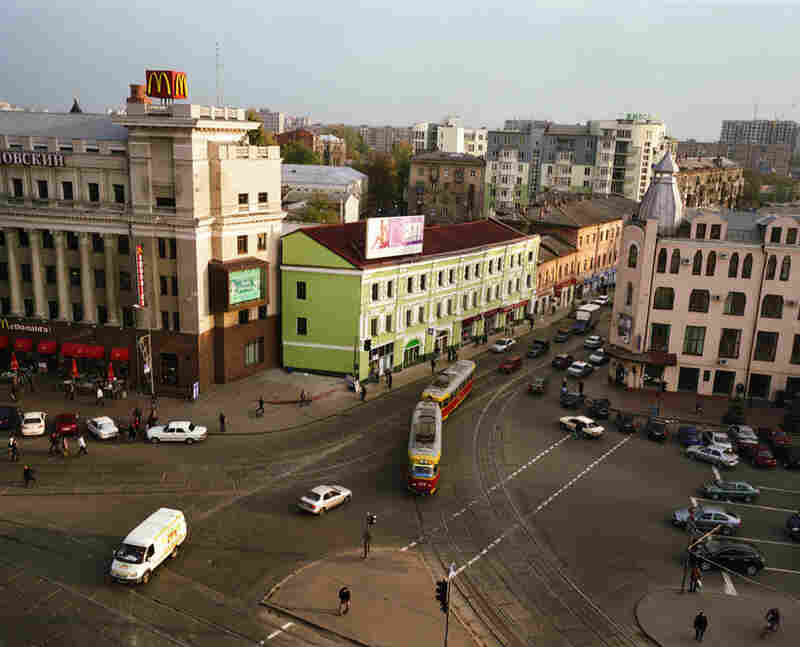 View from Tsum department store where Ruwim Grinker has been an engineer for over 35 years, Kharkov, Ukraine.