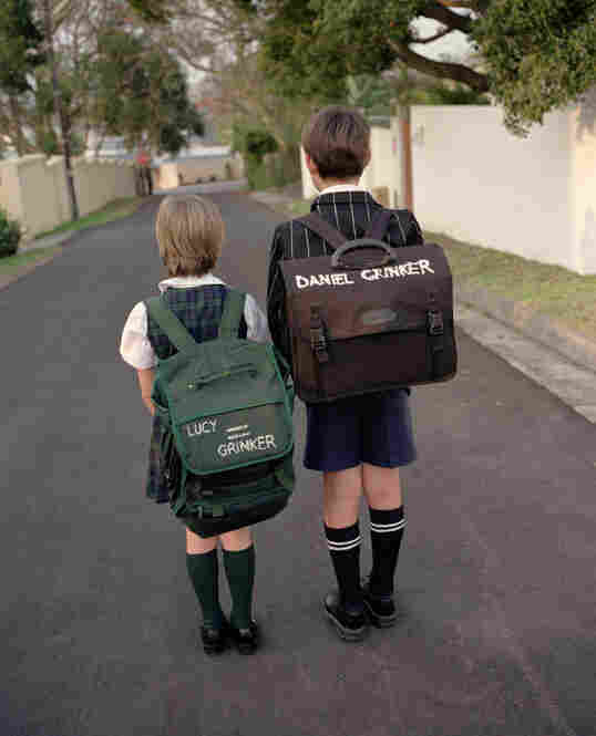 Daniel and Lucy Grinker on their way to school, East London, South Africa, 2005