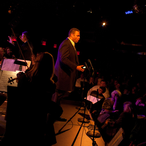 Tenor Joseph Calleja performing at Le Poisson Rouge, New York City on October 24, 2011.