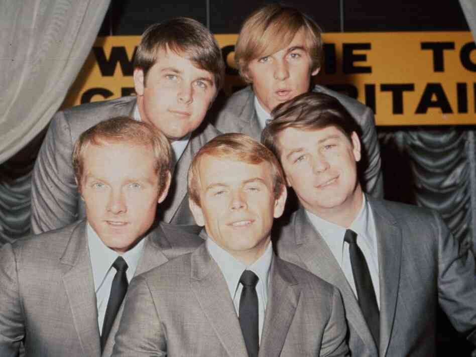 The Beach Boys in 1964: Brian Wilson, Dennis Wilson, Mike Love, Al Jardine and Carl Wilson.