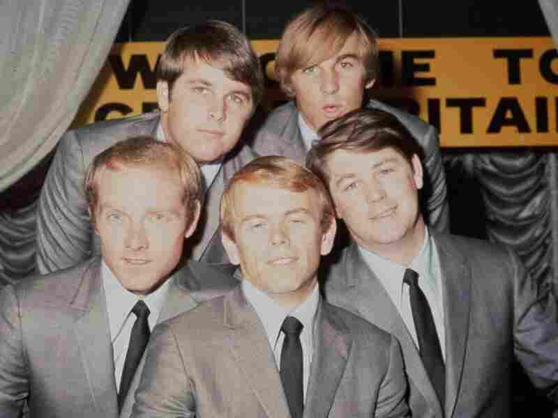 The Beach Boys in 1964: Brian Wilson, Dennis Wilson, Mike Love, Al Jardine and Carl Wilson.