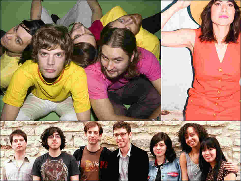 Clockwise from upper left: Casiokids, Firehorse, Ava Luna.