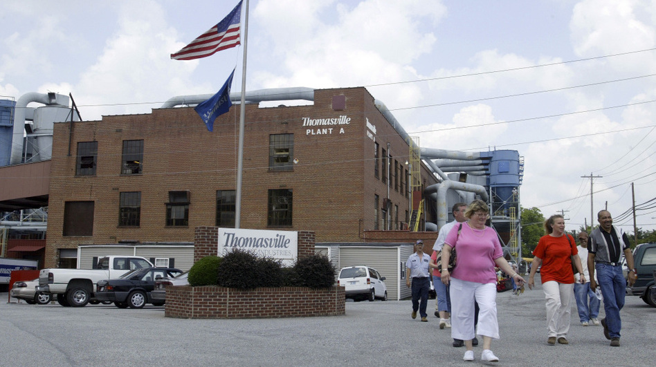 <p>In 2005, the owners of the Thomasville Furniture Plant cut 600 jobs at the North Carolina facility, as cheaper imports cut into the market.</p>