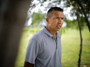 Peter Lengkeek is one of 14 members of the Crow Creek Tribal Council. He said he is enraged by the number of children that the Department of Social Services has removed from his reservation. The Tribal Council recently passed a resolution saying that the state cannot remove children without the council's approval.