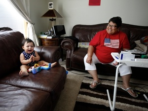 Marcella Dion lives on the Crow Creek reservation and has been licensed as a foster care provider since 2005, but the state has never sent her any children. Recently she took in her brother's granddaughter, Isabella.