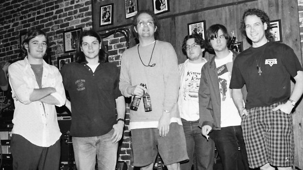 Uncle Tupelo at the Sapphire Supper Club in Orlando, Fla. Jeff Tweedy (second from left) went on to form Wilco, while Jay Farrar (second from right) created Son Volt. (Jim Leatherman)