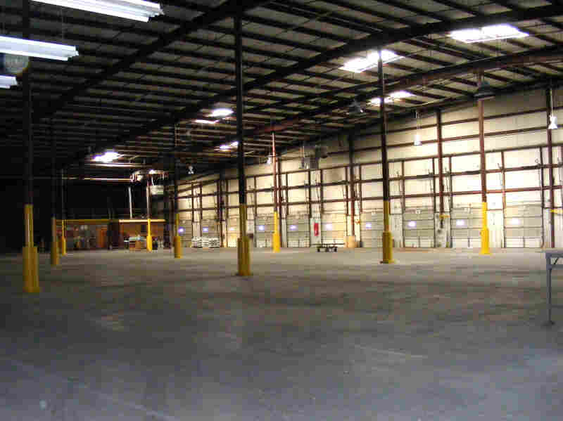 This warehouse in Lincolnton, N.C., will soon house furniture built by Bruce Cochrane's Lincolnton Furniture Co.