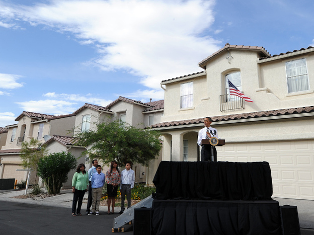 <p>Speaking in Las Vegas on Monday, President Obama announced a plan for homeowners to refinance mortgages at low interest rates, if they met certain conditions.</p>