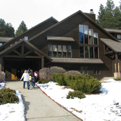 Children at the Black Hills campus of the Children's Home Society head into the main building for lunch. The home caters to children with special needs, many of whom are Native American.