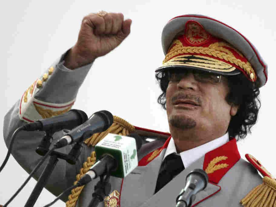 Former Libyan leader Moammar Gadhafi.