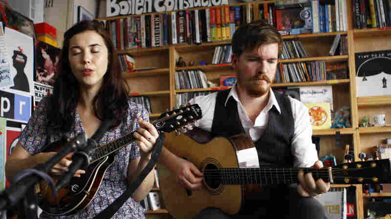 Lisa Hannigan plays a Tiny Desk Concert at the NPR Music offices on October 13, 2011.