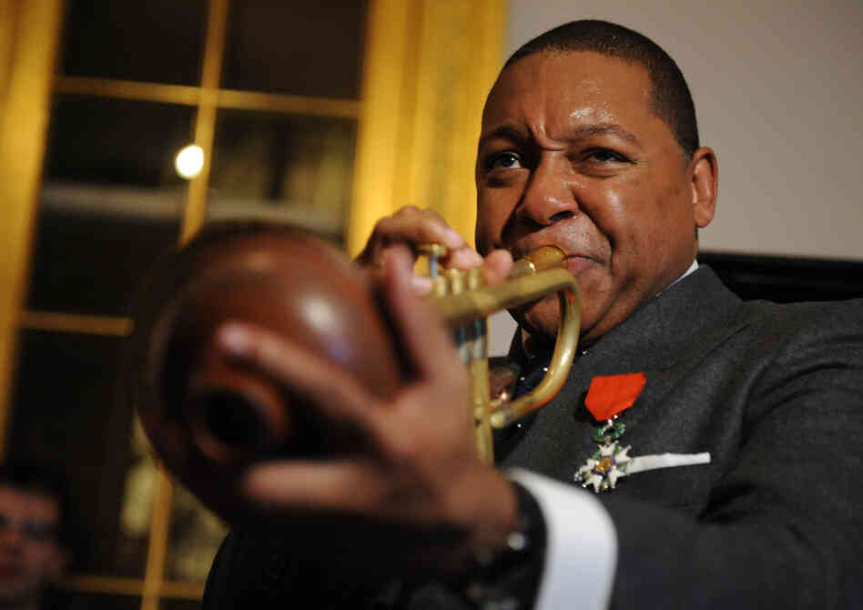 Wynton Marsalis receives the French Legion of Honor during a 2009 ceremony in New York.