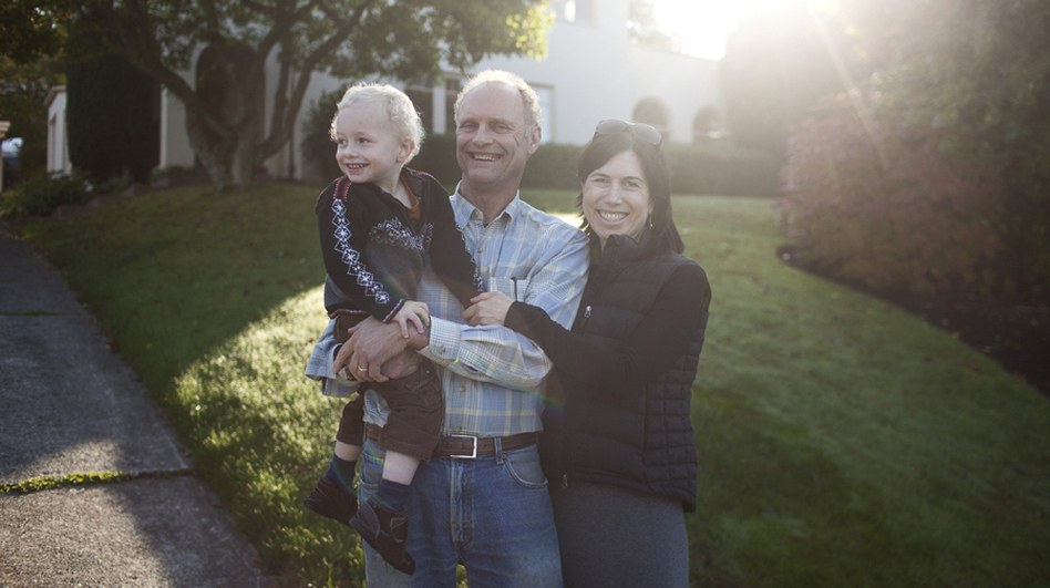 <p>Steve McMinn and Julie Trimingham, with their son. Trimingham's family has lived in Bellingham for generations, and she now finds herself stepping up as a community activist, opposing the proposed coal-export terminal.</p>