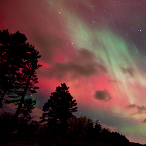 Northern Lights in Marquette, Mich.