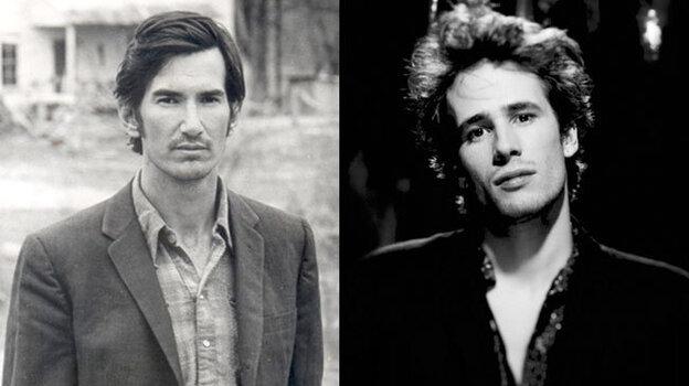 Townes van Zandt (left) and Jeff Buckley (right).