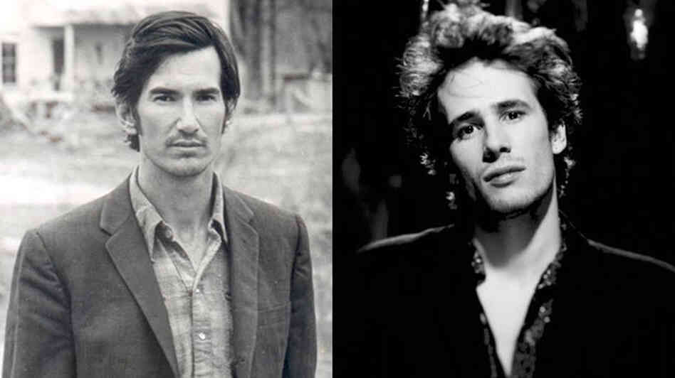 Townes van Zandt (left) and Jeff Buckley (right).