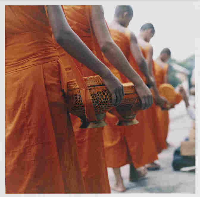 Collecting alms, Luang Prabang, Laos 2006