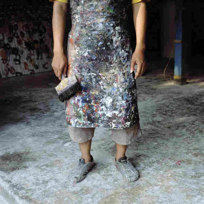 Artist Agus Purnomo, Yogyakarta, Central Java, Indonesia 2008
