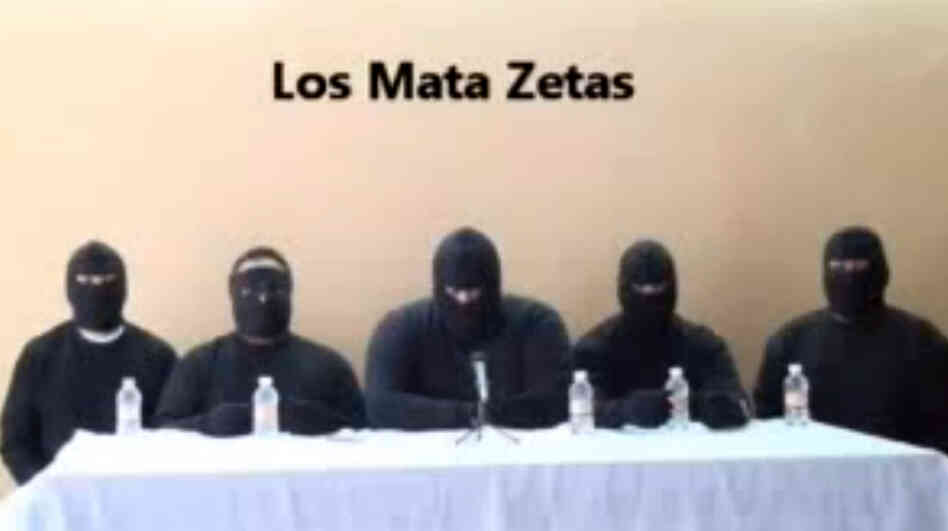 """Los Mata Zetas,"" or the ""Zeta Killers,"" described themselves in a recent video as a paramilitary group that will go after members of the Zeta drug cartel. The Mexican government, however, has described it as a rival drug cartel that is just seeking to eliminate competition from the Zetas."