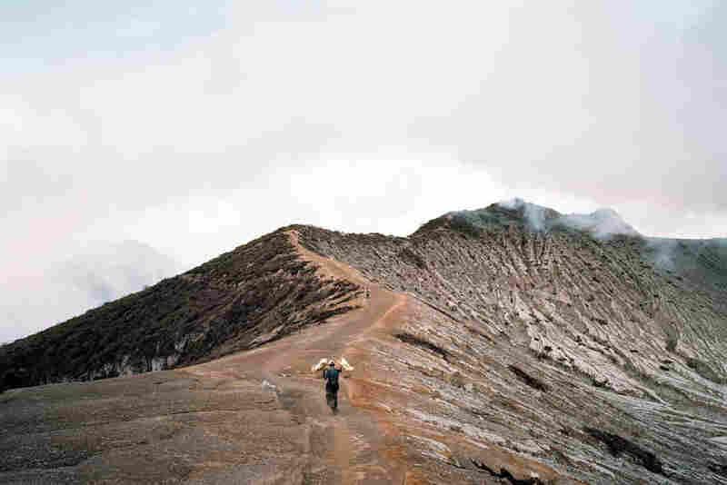 Sulphur miners I, Kawah Idjen, East Java, Indonesia 2008