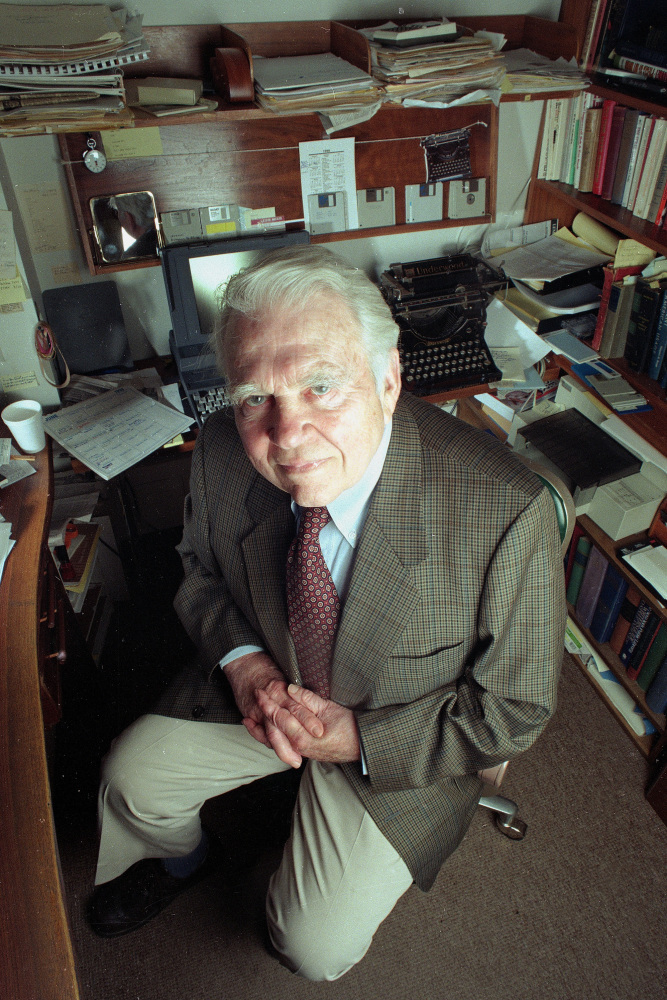 Andy Rooney of '60 Minutes' talked about life's absurdities, large and small