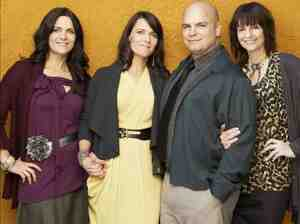 From left, Vicki, Valerie, Joe and Alina Darger.