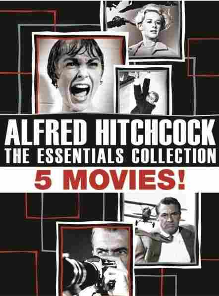 The cover of Alfred Hitchcock: The Essentials Collection.