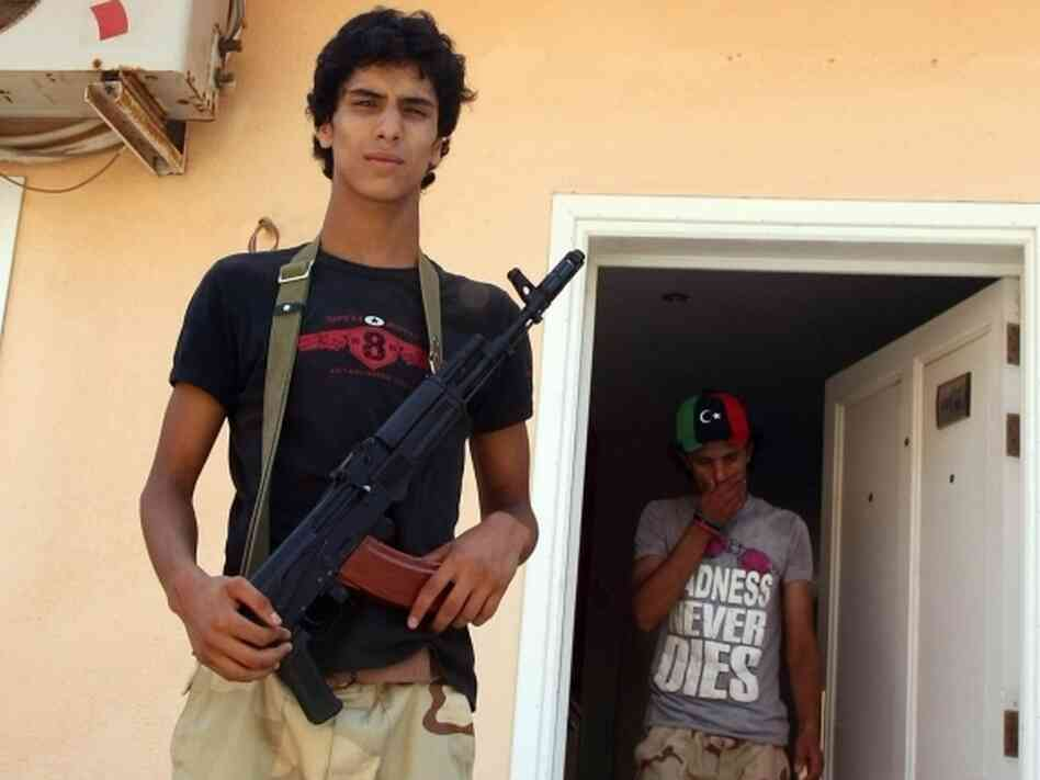 Libyan rebel fighters from the Zintan Brigade, formed by