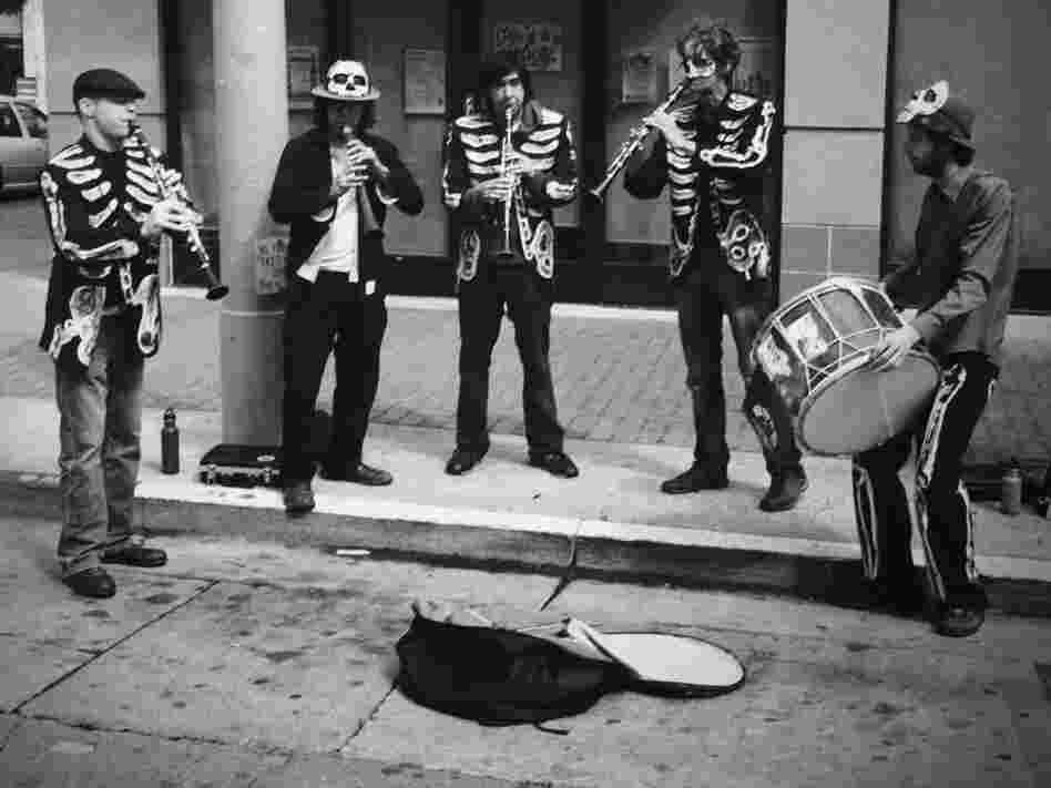 A real skeletal jazz band.