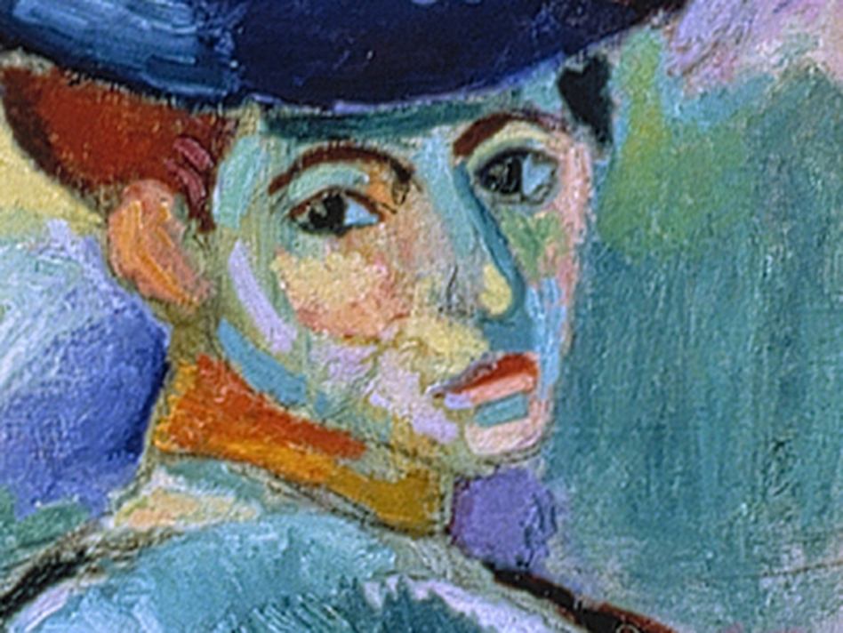 It took a little while for Leo Stein to warm up to Henri Matisse's wildly colored 1905 painting Woman with a Hat. But he kept going back to see it at the Grand Palais, and finally bought it for 500 francs. (SFMOMA)