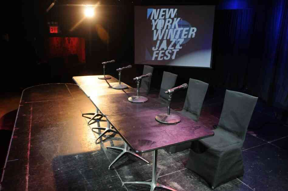 Musicians, festival organizers and a union representative conducted a press conference on Monday to announce the new Winter Jazzfest agreement in the festival's premier venue, Le Poisson Rouge.
