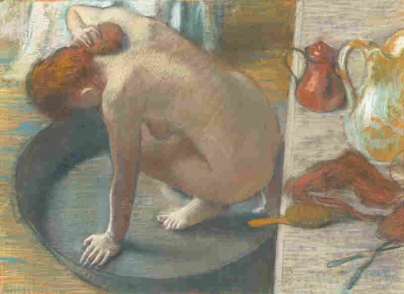 Degas' nudes — including his 1886 work, The Tub -- depict the everyday awkwardness of real life.