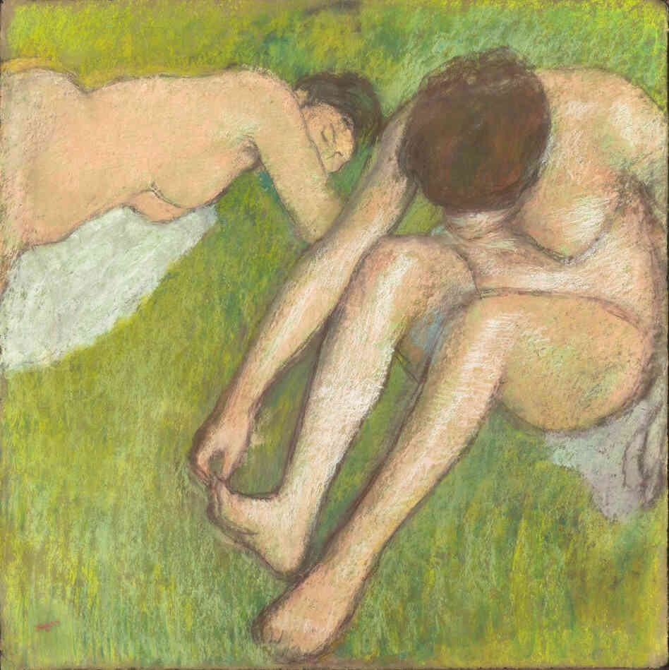 Two Bathers on the Grass (1886-95) is one of the works featured in Degas and the Nude. The exhibit is on display at the Boston Museum of Fine Arts through Feb. 5, 2012. The show then moves to Paris, from March 13 to July 1.