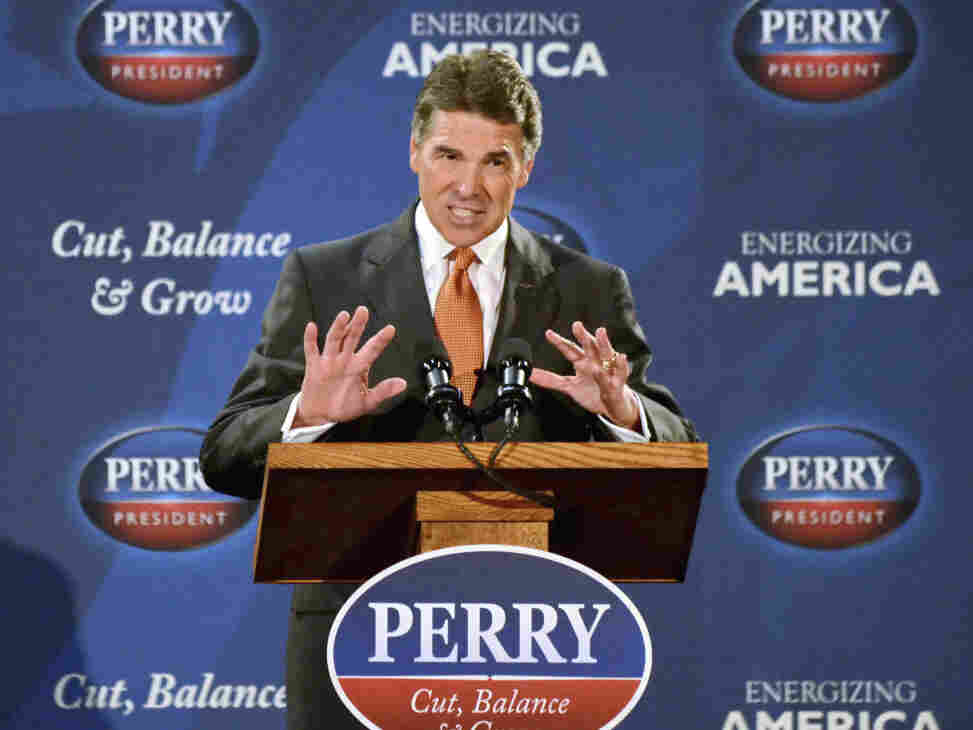 Republican Presidential candidate Texas Gov. Rick Perry announced his flat-tax plan in Gray Court, S.C. on Tuesday.