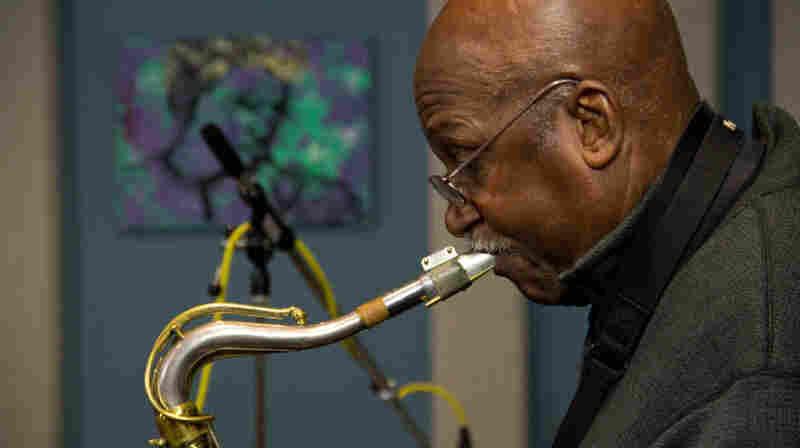 Wilton Felder of The Jazz Crusaders on saxophone.