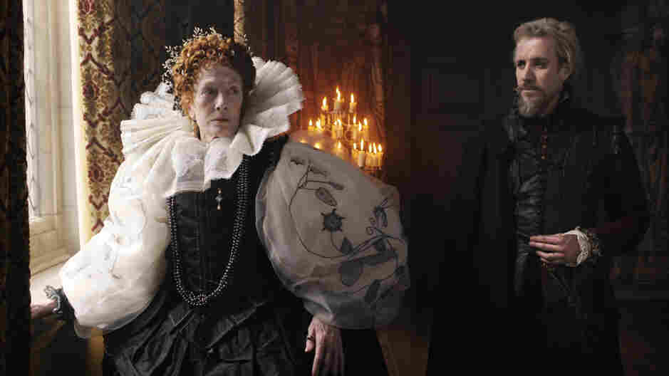 """Strange, Even As Fiction: Rhys Ifans (right, with Vanessa Redgrave) plays the 17th Earl of Oxford in Anonymous, a political melodrama inspired by a discredited theory about who """"really"""" wrote the plays of Shakespeare."""