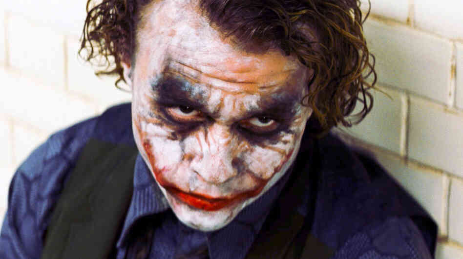 Heath Ledger starred as The Joker in The Dark Knight.