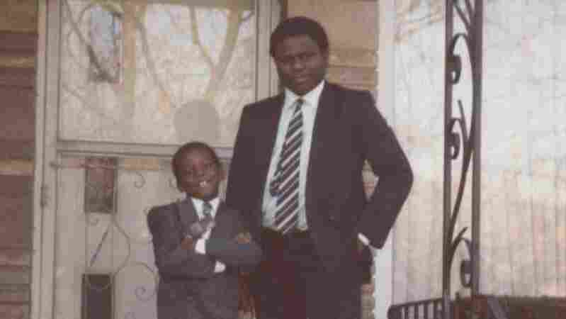 "Ayodeji Ogunniyi and his father, Abimbola ""Yinka"" Ogunniyi, at their first American home in South Holland, Ill., in 1993."
