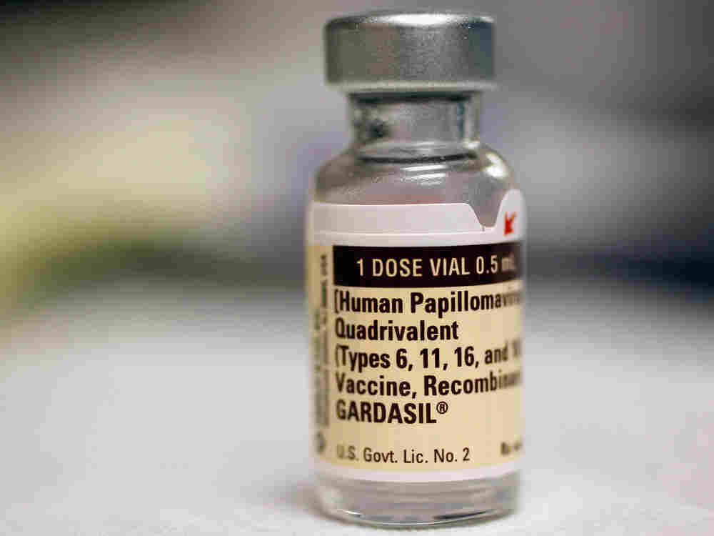 A bottle of the Human Papillomavirus vaccination is seen at the University of Miami Miller School of Medicine on September 21, 2011 in Miami, Florida.