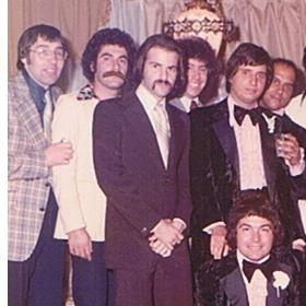 While in New York, Jon Roberts (third from left) had close ties with the Gambino crime family. He attended his last wiseguy party -- a New York wedding -- before fleeing to Miami in 1973.
