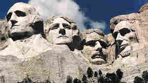 It took 14 years for stone carvers to create the Mount Rushmore monument, seen here in 1995. Gloria Del Bianco's father, Luigi, led the carving team.