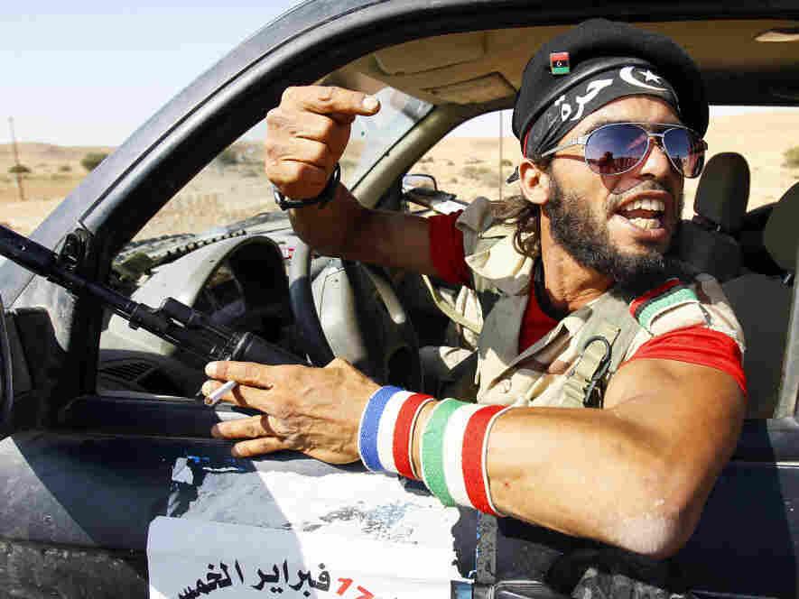 A rebel fighter near Bani Walid, Libya, on Sept. 13, 2011.