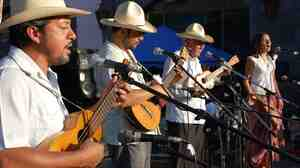 Mono Blanco, a veteran Son Jarocho band from Veracruz, performs in Los Angeles.