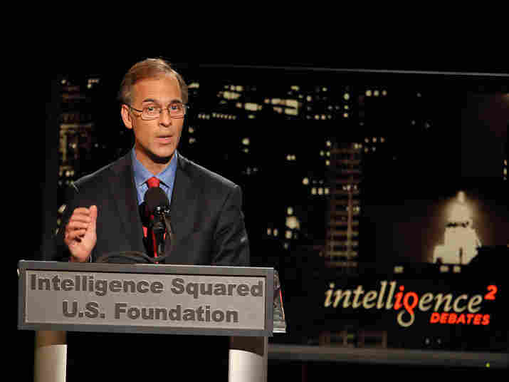 Mark Zandi, chief economist of Moody's Analytics, argues in favor of the president's jobs bill at an Intelligence Squared U.S. debate.