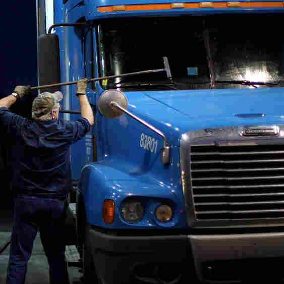 Thousands Of Trucking Jobs, But Few Take The Wheel